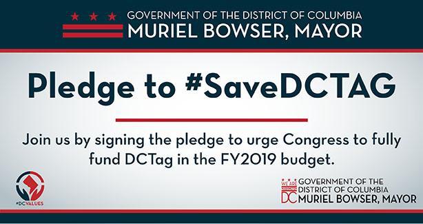 Pledge to #SaveDCTAG